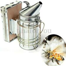 Bee Hive Smoker Small Galvanized with Heat Shield Board Beekeeping Equipment
