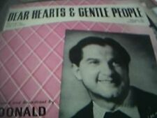 dear hearts gentle people donald peers sheet music