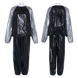 women men sweat track weight loss thin sauna suit fitness exercise