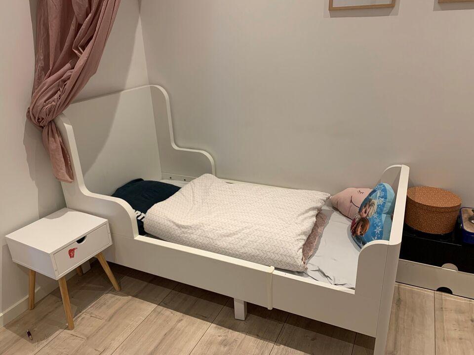 Juniorseng, Udtræksseng BUSUNGE IKEA hvid , b: 80 l: 200