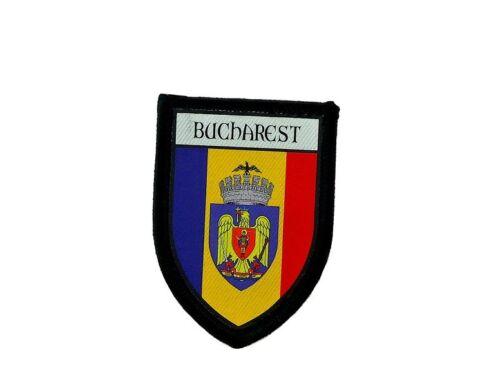 Patch printed embroidery travel souvenir shield city flag bucharest romania