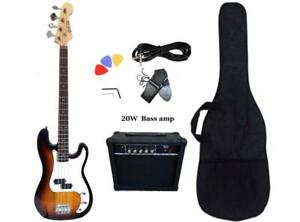 Bass Guitar 20W Amp Package Sunburst for Beginners PB87320 Canada Preview