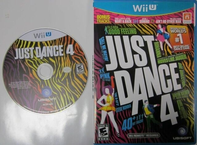 EUC Just Dance 4 GAME BARLEY USED NO SCRATCHES WITH CASE Wii U 2012 40 hit songs