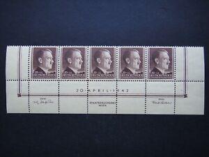 Germany Nazi 1942 Stamps MNH Adolf Hitler 53rd birthday Swastika WWII Third Reic