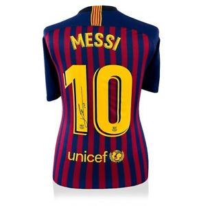 644a88ee5 Image is loading Lionel-Messi-Signed-Barcelona-2018-19-Home-Shirt-