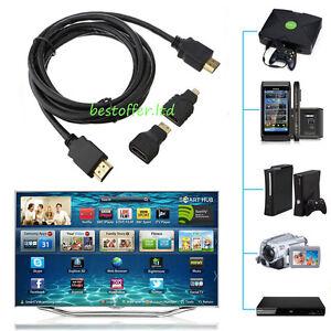 hdmi cable to mini micro hdmi adaptor converter cord for. Black Bedroom Furniture Sets. Home Design Ideas