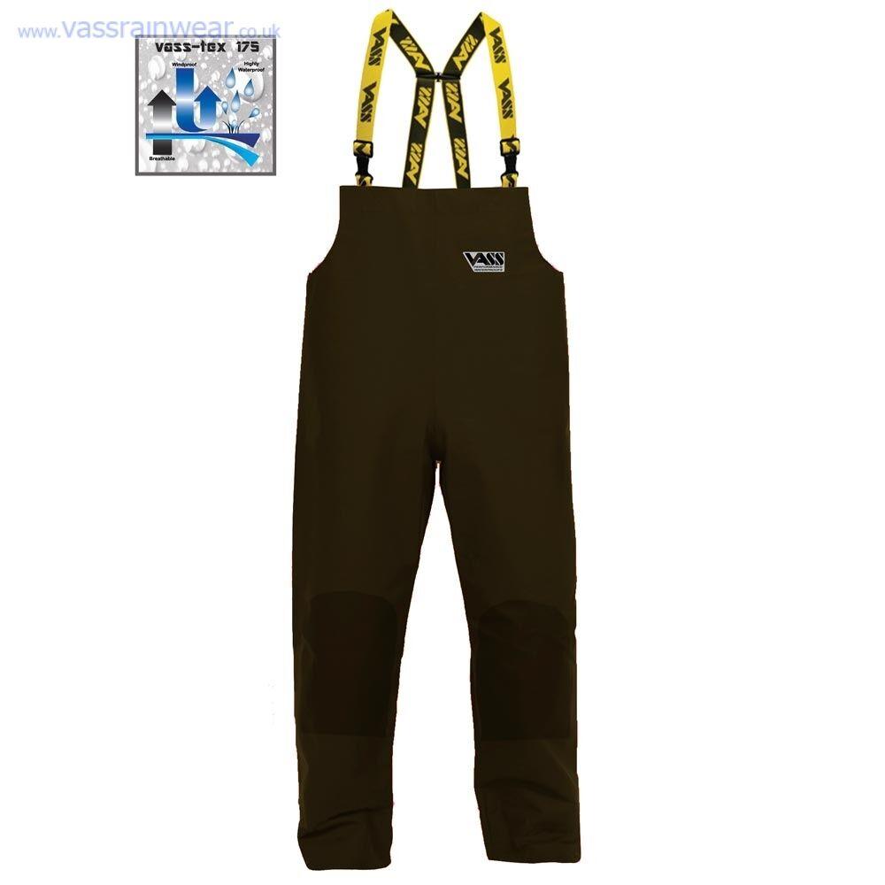 VASS Waterproof Lightweight 175 Bib & Brace Khaki Trousers All Sizes