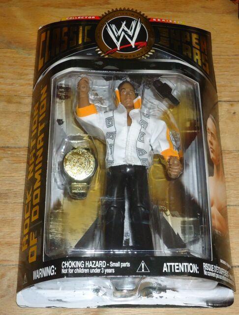 2008 WWF WWE Jakks Rock Dwayne Johnson Classic Wrestling Figure Series 17 Nation