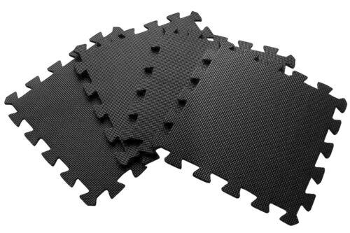MULTICOLOUR BLACK 30 X 30 EVA MATS YOGA GARDEN HOME GYM STRONG PROTECTION PLAY
