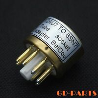 Vacuum Tube Converter Socket Adapter 12AU7 to 6SN7 9 pin to 8 pin Gold platedx1