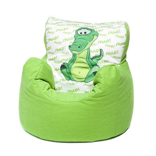 Green Crocodile Childrens Character Filled Beanbag Kids Bean Bag