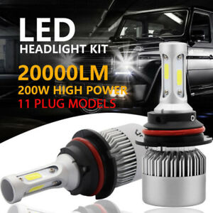 2x-200W-20000LM-LED-Headlight-Kit-H1-H4-H7-H11-9003-9005-9007-Hi-Lo-Bulbs-6500K