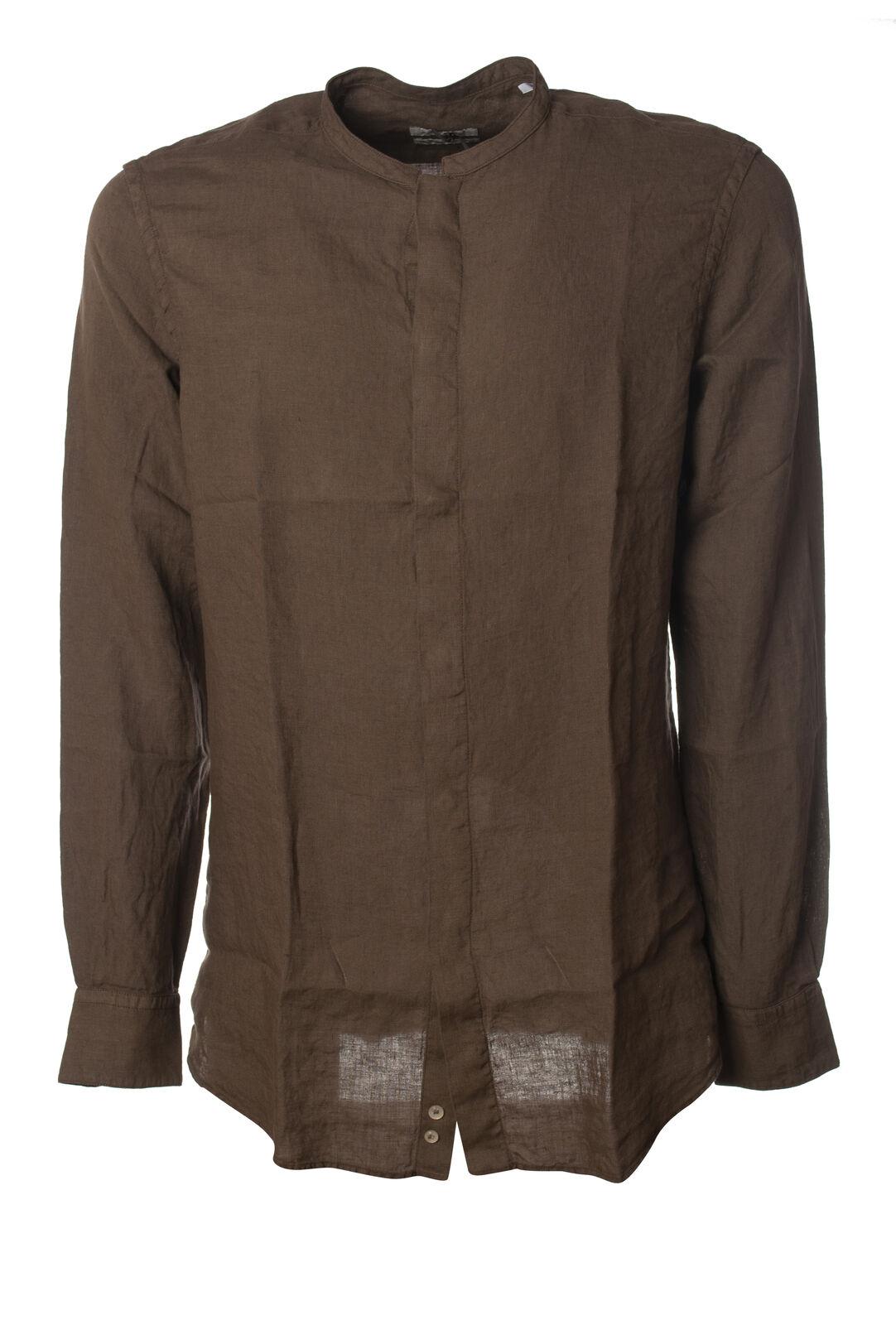 Paolo Pecora - Camicie-Camicie coreana - herren - braun - 6083530F191923