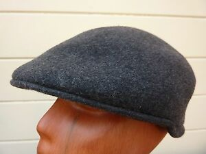 eefee437c8c Men s 100% Wool Jaxon Flat Ivy Cabbie Cap Hat   Gray   Size  Small ...