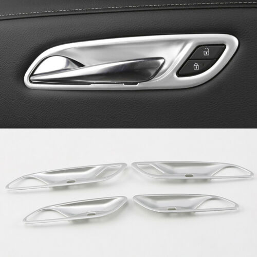 ABS 4pcs Door Inner Handle Bowls Cover Trim Frame For Cadillac XT4 2018 2019