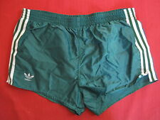 Short Polyamide 80'S Adidas Slip Interieur Vert Vintage Homme - M / L