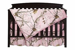 Pink Camo Crib Sheet REALTREE Nursery Baby Girl Bedding 3 ...