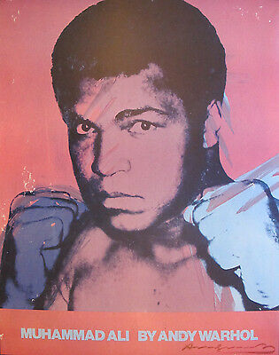 ANDY WARHOL: MUHAMMAD ALI, VERY RARE SIGNED POSTER, 1978