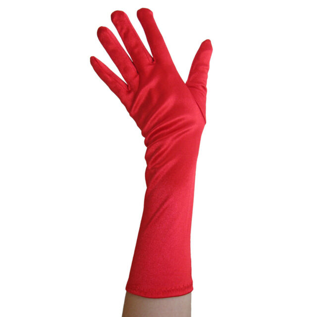 Long Rouched Formal Elbow Gloves Adult Costume Accessory