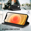 """thumbnail 4 - 12 Pro Leather Wallet Case for 6.1"""" iPhone 12 / 12Pro Luxury Folio Flip Cover"""