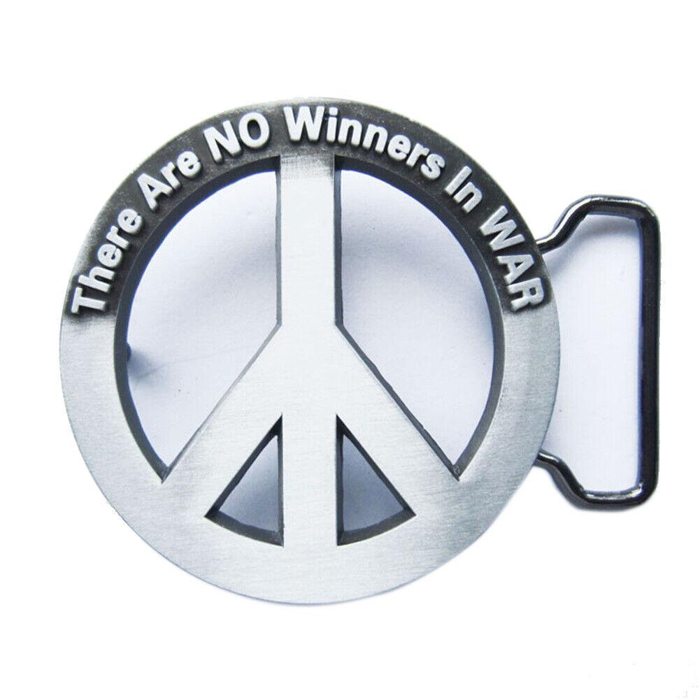 Peace Sign II Belt Buckle Symbol Sign Logo Doves Dove Hippy 60s 70s Make Peace