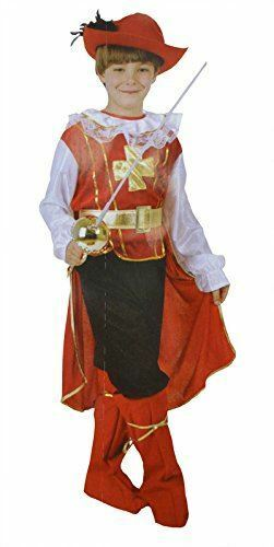 Bermoni ® Boy mosqueteer Dressing Up Costume Mosq - 01 4 To 6 Y O