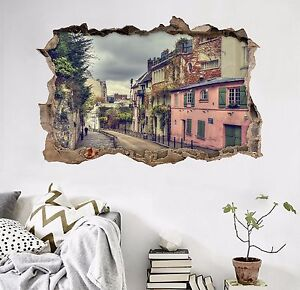 3D-Town-Road-276-Wall-Murals-Wall-Stickers-Decal-Breakthrough-AJ-WALLPAPER-AU