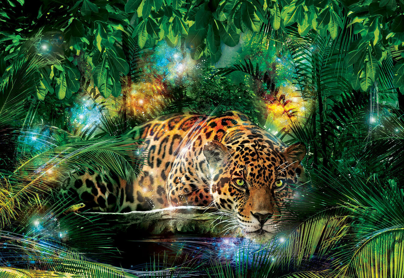 2 sizes available Photo wallpaper wall mural Leopard in The Jungle for bedroom