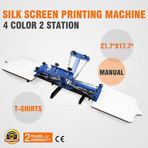69e003dc 4 Color 2 Station Silk Screen Printing Machine Press Equipment T ...