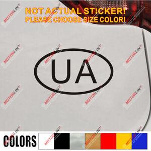 Ukraine UA Oval country code Decal Sticker Ukrainian Car Vinyl pick size color