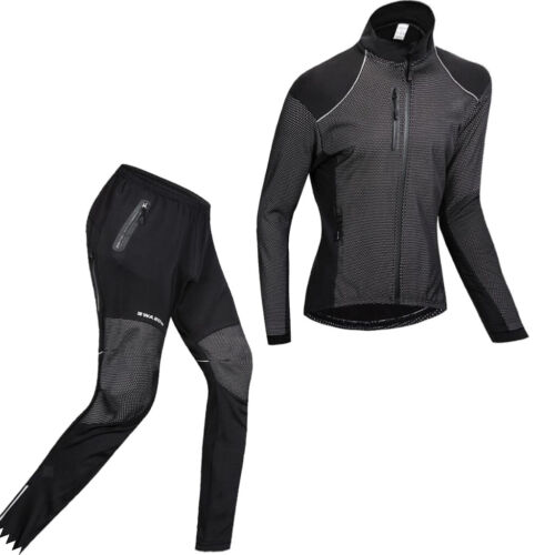 Männer Radfahren Jersey Anzug Winter Thermal Fleece Langarm Fahrrad Hemd