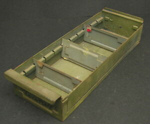 Vintage-Industrial-Green-Painted-Metal-Part-Bin-Drawer-Storage-Divided-Tray