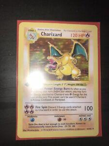 Replica Charizard 1st Edition Shadowless Base Set 4//102 Rare Pokemon Card PROXY