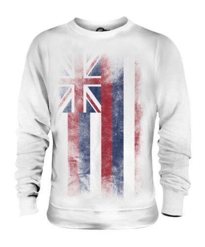 Hawaii État Décoloré Drapeau Unisexe Pull Chemise Hawaïenne T-Shirt Cadeau