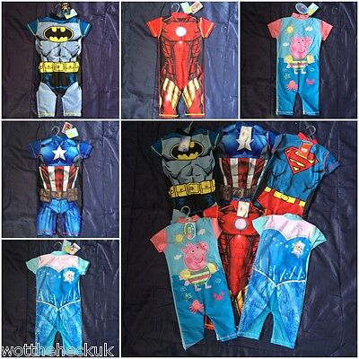 Swimming Swimsuit Suit Swim Girls Boys Peppa Pig Frozen Batman Superman Ironman
