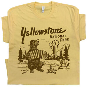 Yellowstone-National-Park-T-Shirt-Wyoming-Camp-Grand-Tetons-Shirts-Old-Faithful