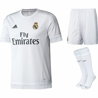 Intelligente 100% Autentico Adidas Kid's Real Madrid Home Kit Completo 2015/16, Taglia: 13-14 Anni-mostra Il Titolo Originale