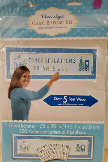 Amscan Charming Welcome Little One Boy Giant Sign Banner Baby Shower Party For Sale Online Ebay
