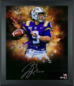 Joe-Burrow-LSU-Tigers-Framed-Signed-20-034-x-24-034-In-Focus-Photo-amp-034-19-Champs-034-Insc