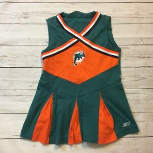100% authentic 7044b e8165 Details about MIAMI DOLPHINS NFL GIRLS SIZE 4T CHEER DRESS CHEERLEADER #16