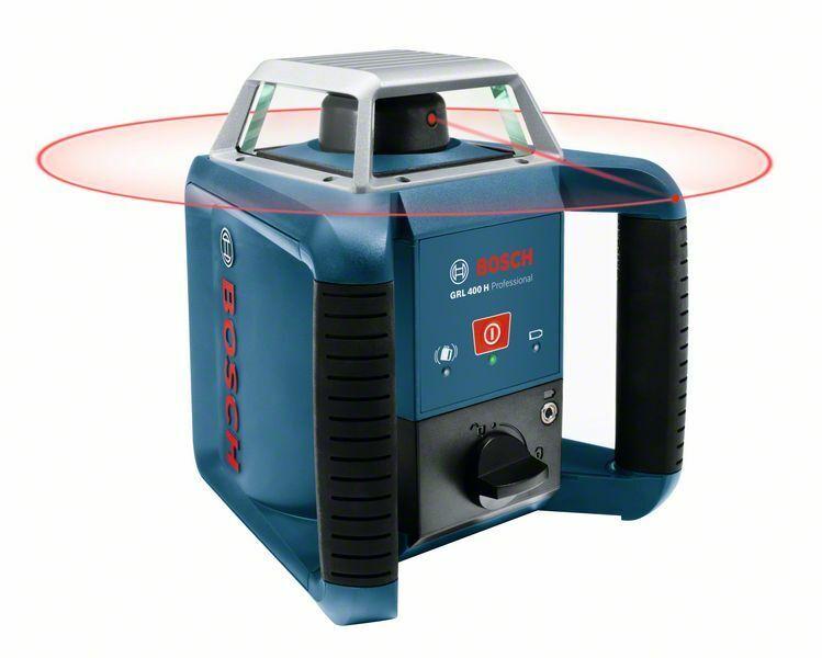 Bosch Rotationslaser GRL 400 H 1x NiMH Akku im Set + Lader im Handwerkerkoffer