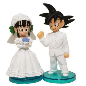 Cute Dragon Ball Z Son Goku/Gokou+ChiChi Figure Toys ...