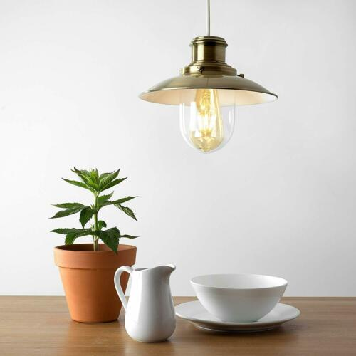 Moderne FISHERMAN/'S VINTAGE STYLE Lanterne Lampe de Plafond Pendentif Clair Abat-jour en verre