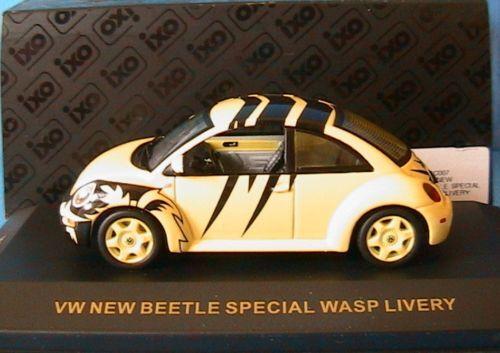 VW VOLKSWAGEN NEW BEETLE SPECIAL WASP LIVERY IXO MOC007 1 43 jaune jaune JAUNE