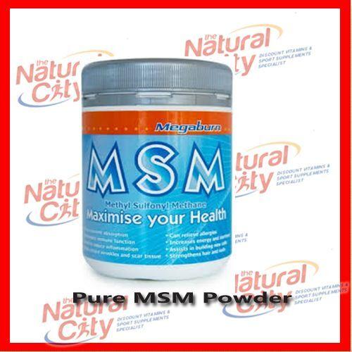 Megaburn Pure MSM powder 400g Australian Made