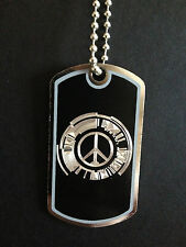 Metal Gear Solid Peace Walker symbol Dog Tag Necklace Handmade, video game, mgs