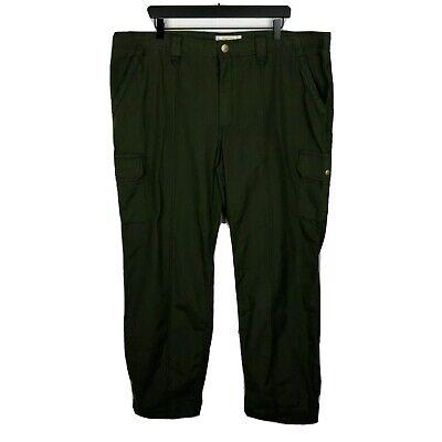 Eddie Bauer Ripstop Para Hombre Pantalones Cargo Talla 22w Calidad Verde De Carga Ebay