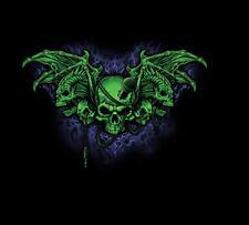Demon Wing Skull HEAT PRESS TRANSFER for Shirt Sweatshirt Quilt Fabric 059o