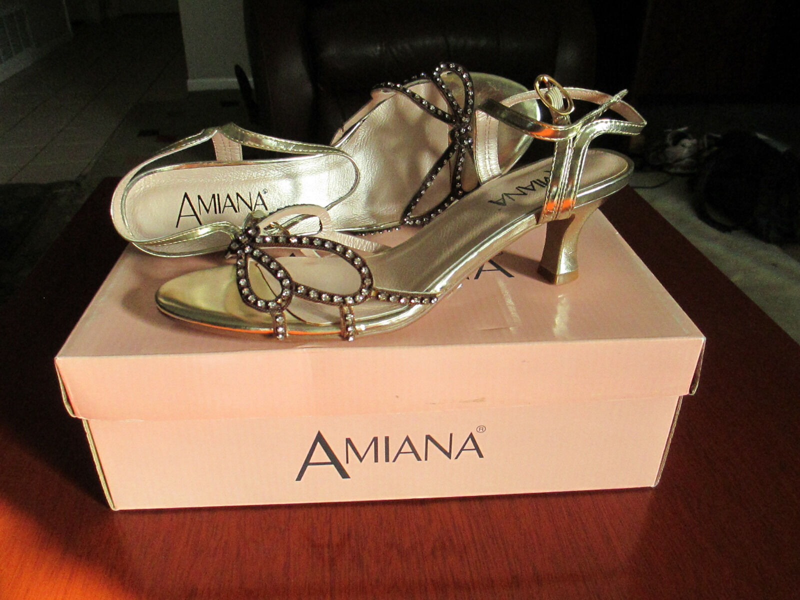Man/Woman Amiana shoes Gold Metallic size 8 flagship the store Lush design leading the flagship fashion b7f5b3
