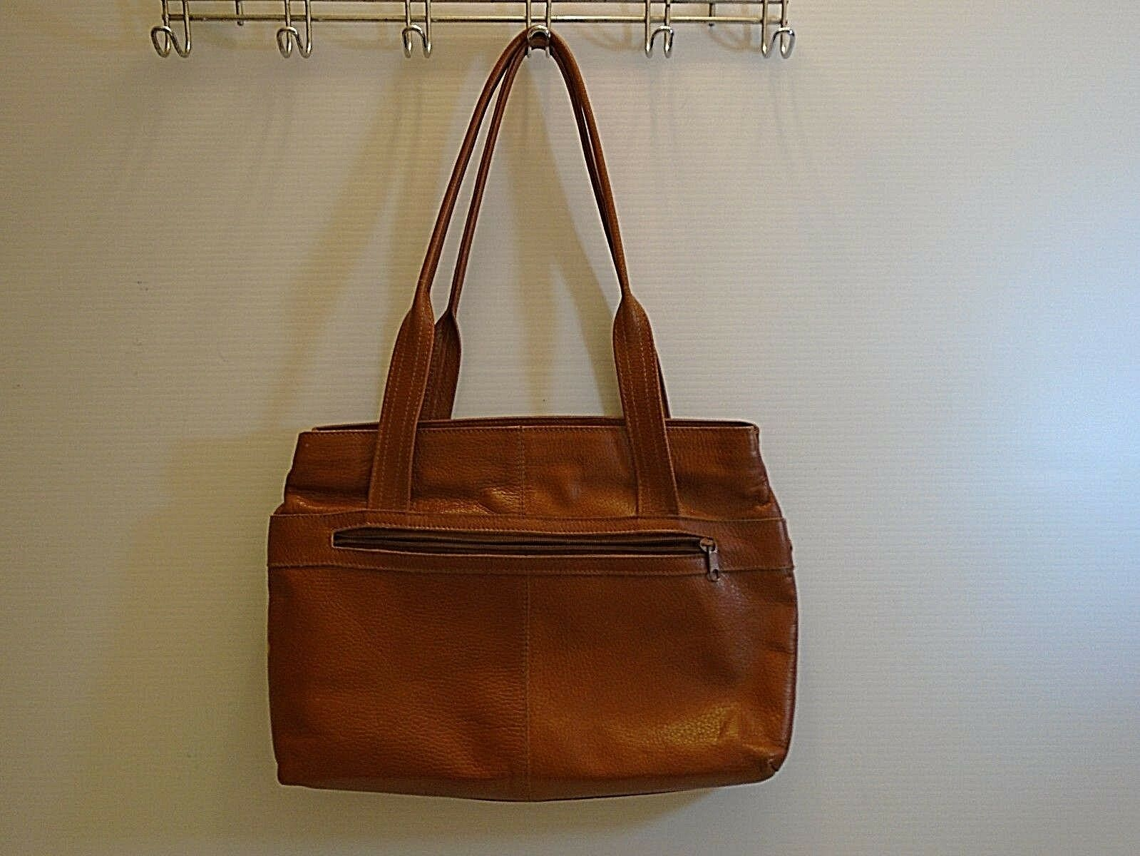Vintage Fratini women's brown  leather Tote handb… - image 6